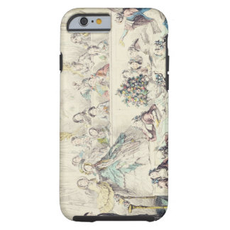 The Breach of Promise - cartoon hand coloured etch Tough iPhone 6 Case
