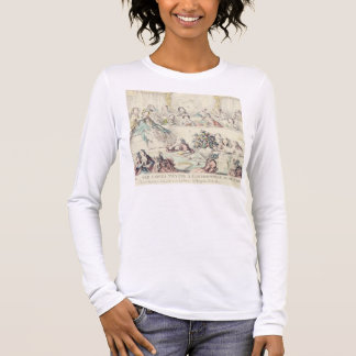 The Breach of Promise - cartoon hand coloured etch Long Sleeve T-Shirt