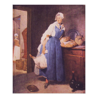 The bread by Jean Chardin Poster