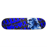 The Bread of Life Blue with Jesus Skateboard