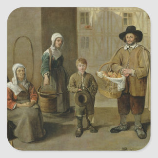 The Bread Seller and Water Carriers Square Sticker