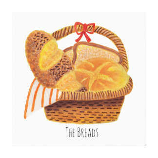 The Breads Illustration Canvas Print