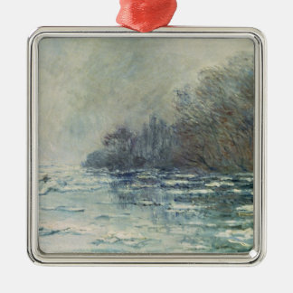 The Break up at Vetheuil, c.1883 Christmas Tree Ornaments