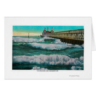 The Breakers and Pleasure PierLong Beach, CA Card