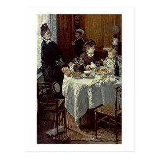 The Breakfast, 1868 (oil on canvas) Postcard