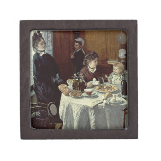 The Breakfast, 1868 (oil on canvas) Premium Jewelry Boxes