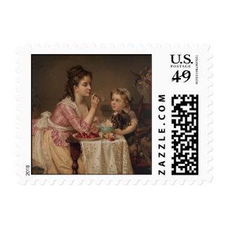 """The Breakfast"" Fine Art Postage Stamp"