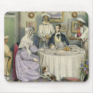The Breakfast, plate 3 from 'Anglo Indians', engra Mouse Pad