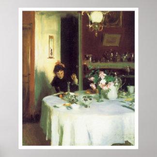 The Breakfast Table, 1884 John Singer Sargent Print
