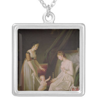 The Breastfeeding Mother Silver Plated Necklace