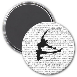 The Breath of a dancer 3 Inch Round Magnet