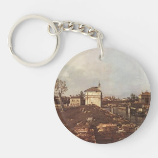 The Brenta Canal at Padua by Canaletto Keychain
