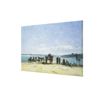 The Breton Fishermen's Wives, 1870-73 (oil on pane Canvas Print