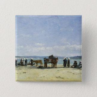 The Breton Fishermen's Wives, 1870-73 (oil on pane Pinback Button