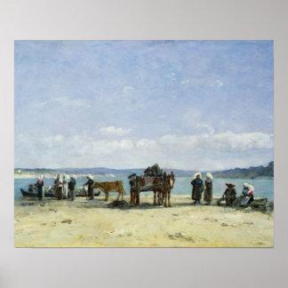 The Breton Fishermen's Wives, 1870-73 (oil on pane Poster