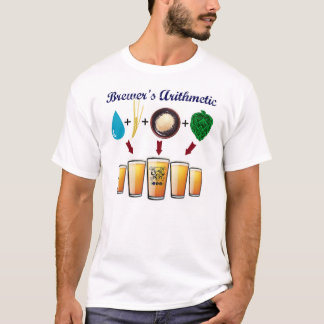The Brewer's Arithmetic T from TriBEERatops T-Shirt