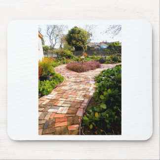 The Brick Heart Path Mouse Pad