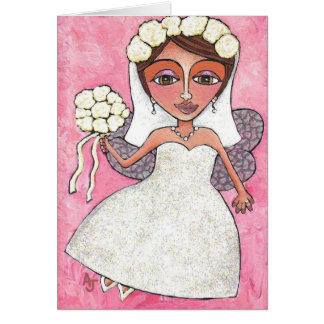The Bridal Fairy & Roses - greeting card