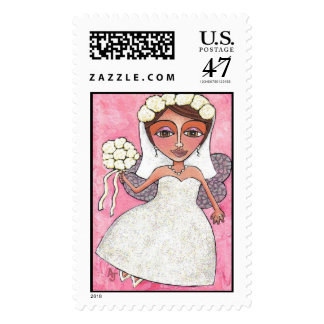 The Bridal Fairy & Roses - stamp