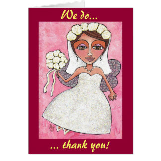 The Bridal Fairy & Roses - thank you notecards Card