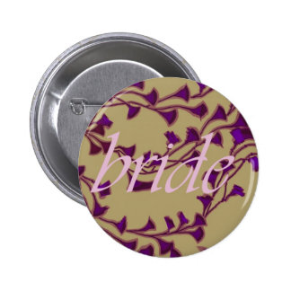 the bride and ginkgo pinback button