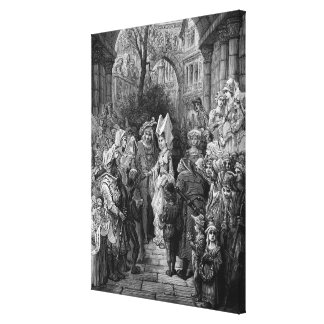 The Bride and Groom entering the hall Canvas Print