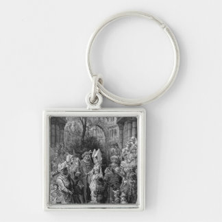 The Bride and Groom entering the hall Keychain