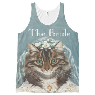 The bride, bachelorette party All-Over-Print tank top