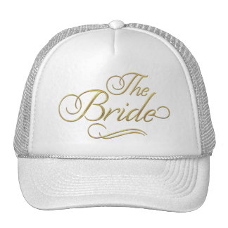 The Bride Baseball Hat Gold