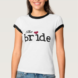 The Bride Black with Red Heart T-Shirt