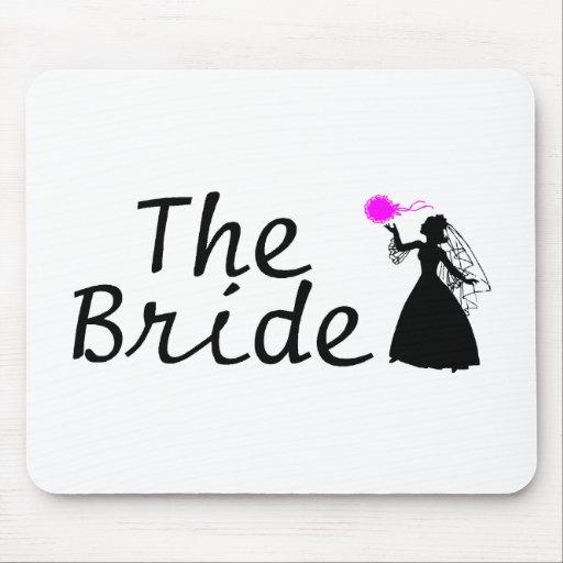 The Bride Bride Black Wedding Bouquet Mouse Pad