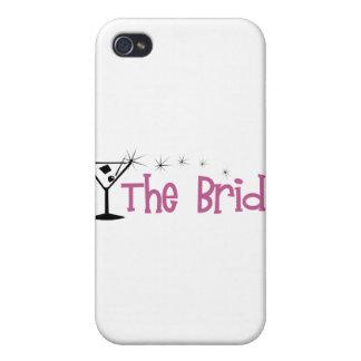 The Bride Cartoon Martini iPhone 4 Case