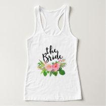 The Bride Chic watercolor Floral Tank Top