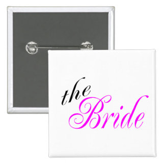 The Bride - Customized Buttons