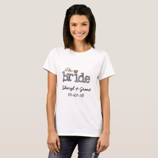 The Bride Date and Names T-shirt