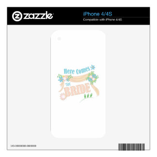 The Bride Decal For The iPhone 4S