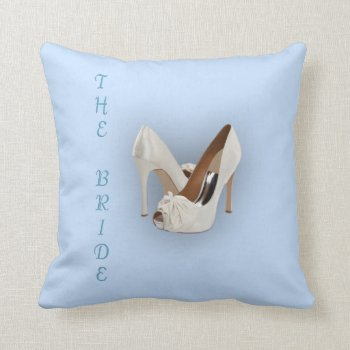 The Bride Heels Blue Pillow