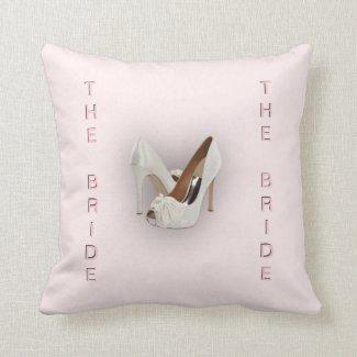 The Bride Heels Pink Throw Pillows