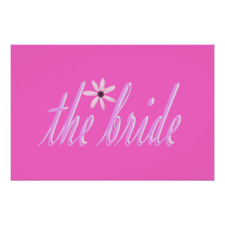 the bride in pink poster
