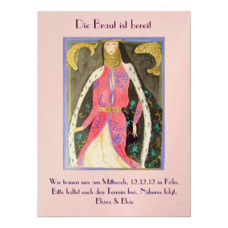 The bride is ready card