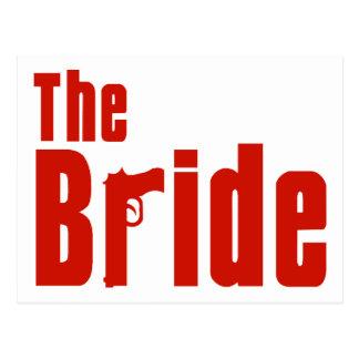 The Bride (Mafia Red) Postcard