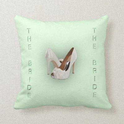 The Bride Mint Green Throw Pillows