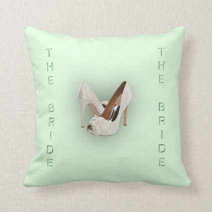 The Bride Mint Green Throw Pillows