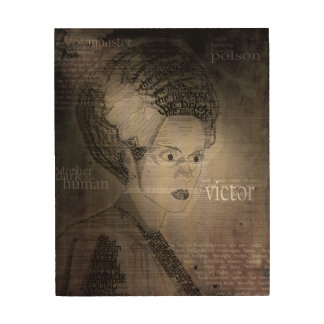 The Bride of Frankenstein Wood Wall Decor