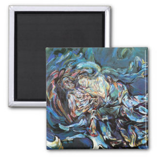 The Bride of the Wind (The Tempest) 2 Inch Square Magnet