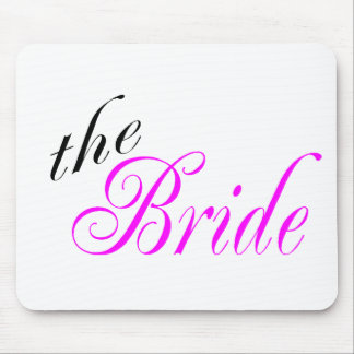 The Bride Pink and Black Mouse Pad