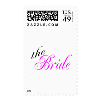 The Bride Pink and Black Stamps