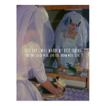 Wedding Themed THE BRIDE POSTCARD