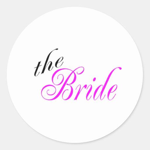 The Bride Round Stickers