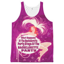 The bride, team bride,bachelorette party All-Over-Print tank top